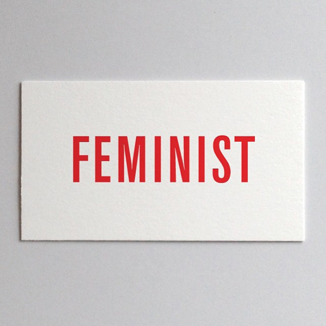 Feminist Card by Jen Armbrust