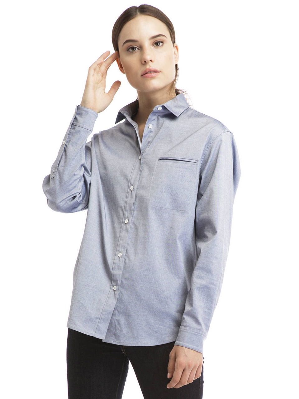 Boyfriend Button Up Shirt by Zady