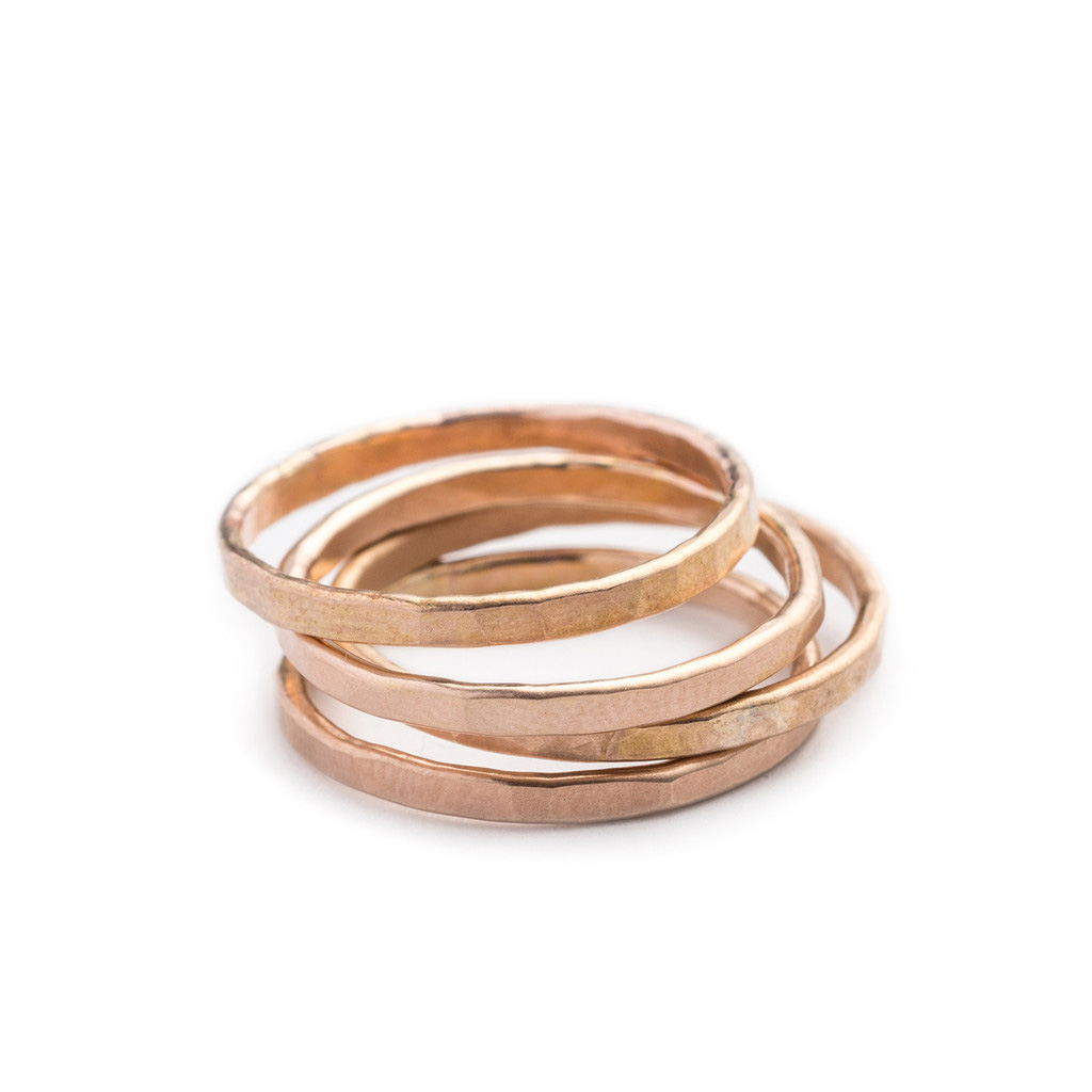 Gold Filled Bands by Betsy & Iya