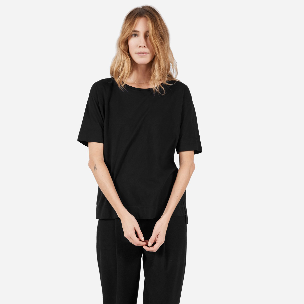 Cotton Drop-Shoulder Tee by Everlane