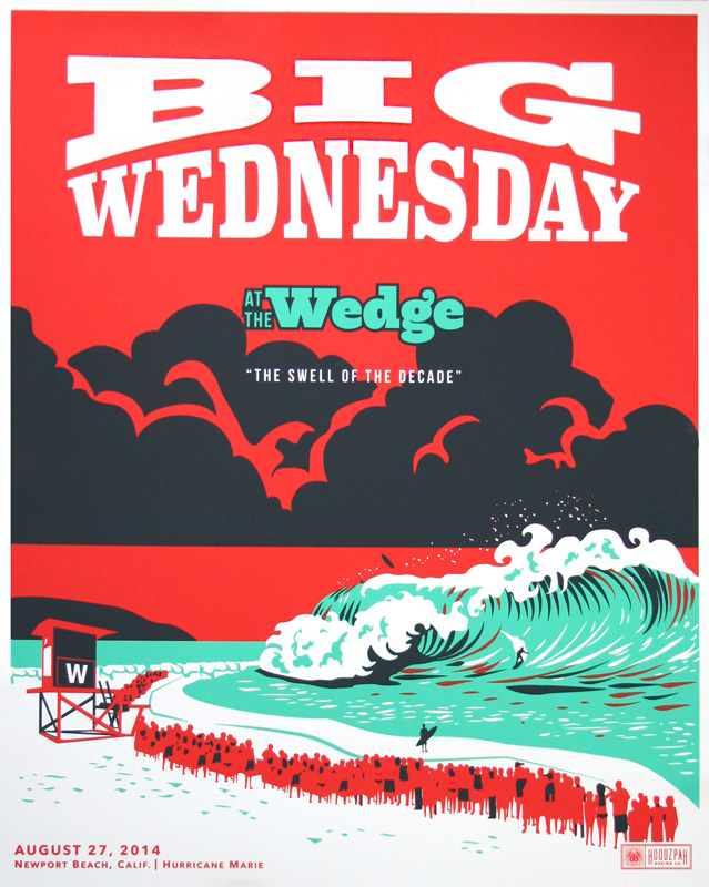 Big Wednesday Poster by Hoodzpah Design co.